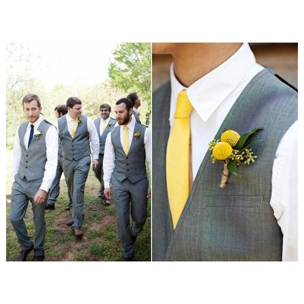 Lemon, Charcoal, Navy Rustic Real Wedding: Hannah and Marc - Wedding Blog - OneWed's Savvy Scoop for Wedding Ideas, Wedding Photos, Wedding Pictures found on Polyvore