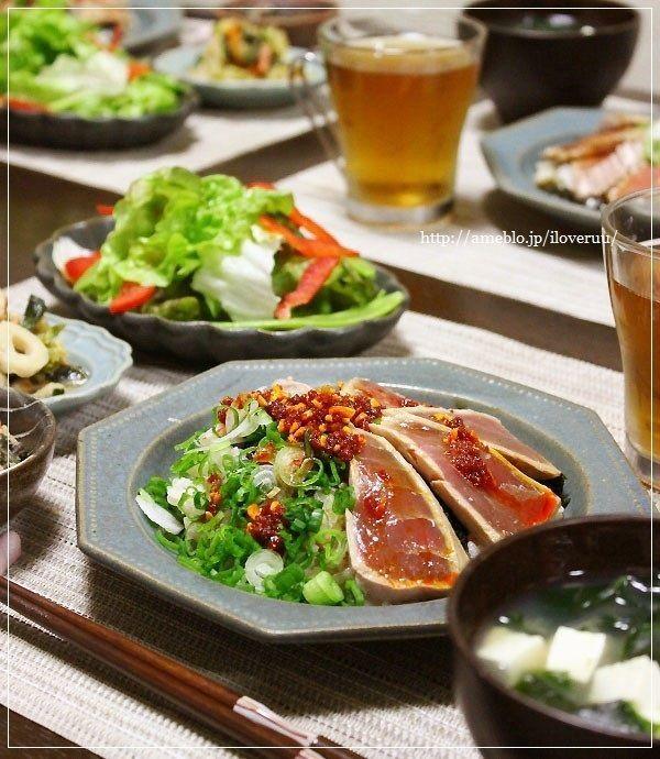常備菜、スタッドレス、本まぐろ。~葉玉ねぎと食べラーの霜降りまぐろ丼~ : るぅのおいしいうちごはん