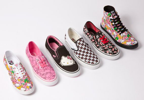 I still want a pair of these Vans, but however is a girl to chose?!: Fashion, Kitty Shoes, Style, Hello Vans, Footwear, Hello Putty, Hello Kitty Vans, Shoes Vans Hello Kitty, Vans Collection