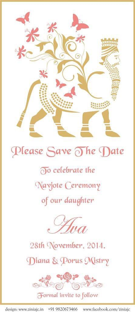 Save the date card from Zinia JC. Copyright Zinia JC Art & Design. Ziniajc19@gmail.com. Www.Facebook.com/ziniajc