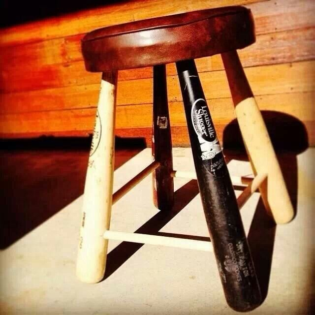 Baseball bat stool = want.