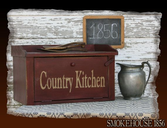 Country Kitchen Bread Box Primitive Smokehouse by Smokehouse1856, $65.00