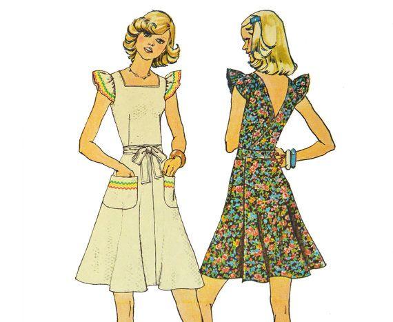 Vintage 70s Boho Dress Pattern / Vintage Sewing by ScarlettsVault