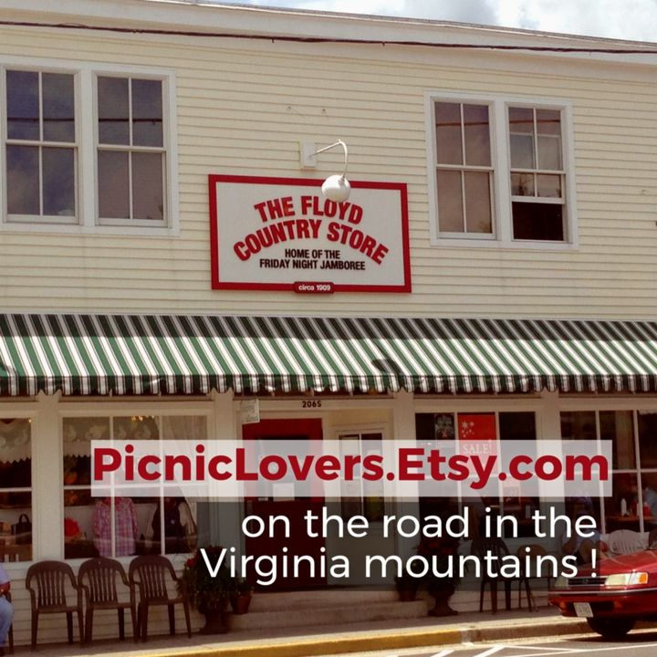 Bluegrass, wine tasting, and antiquing road trip for my Picnic Lovers Etsy shop!