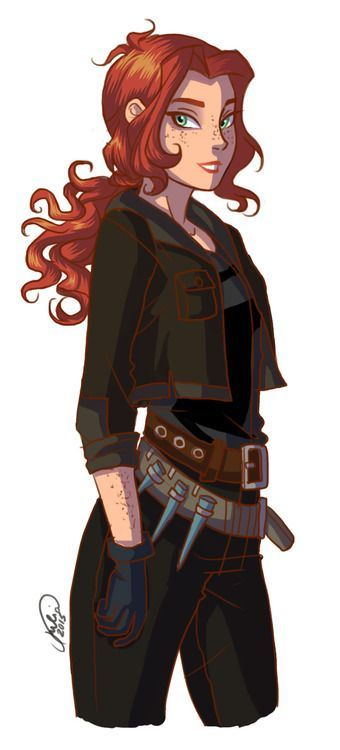 This is Clary Fray from the City of Bones. Well, not exactly, this is just a fan-drawn picture of her. :)