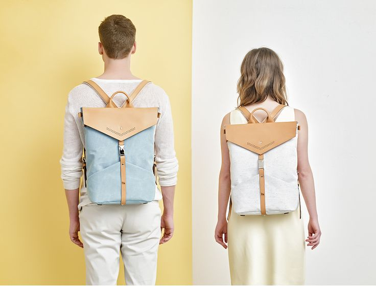 TheBétaVersion Spring/Summer 2015 Campaign - Ezra rucksacks in turquoise and grey marled