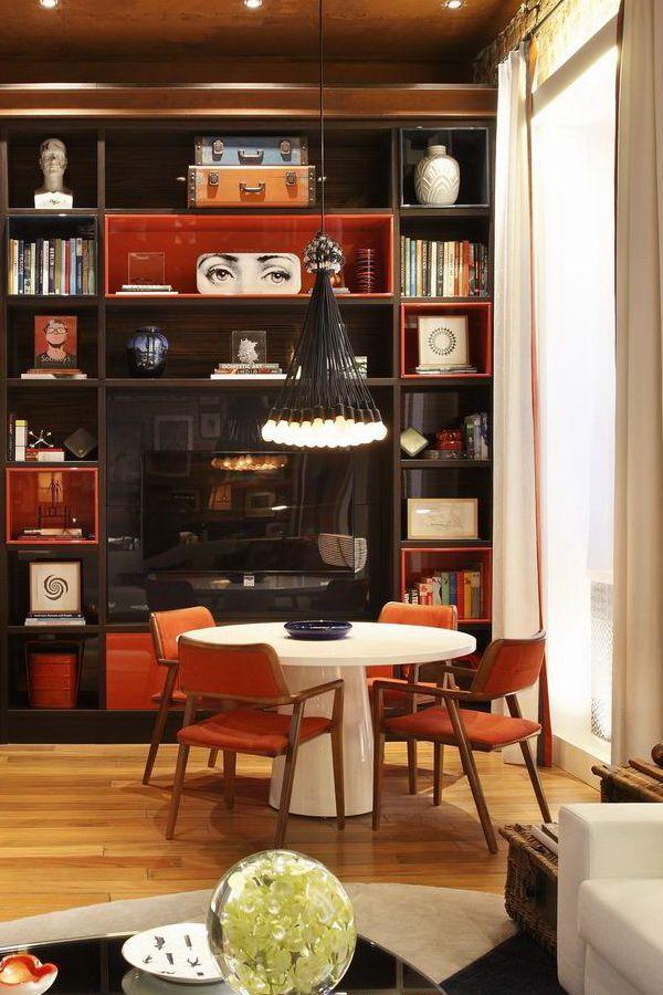 Bookcase   Contrast interiors. Luiz Fernando Grabowsky  Шоу Casa Cor 2012