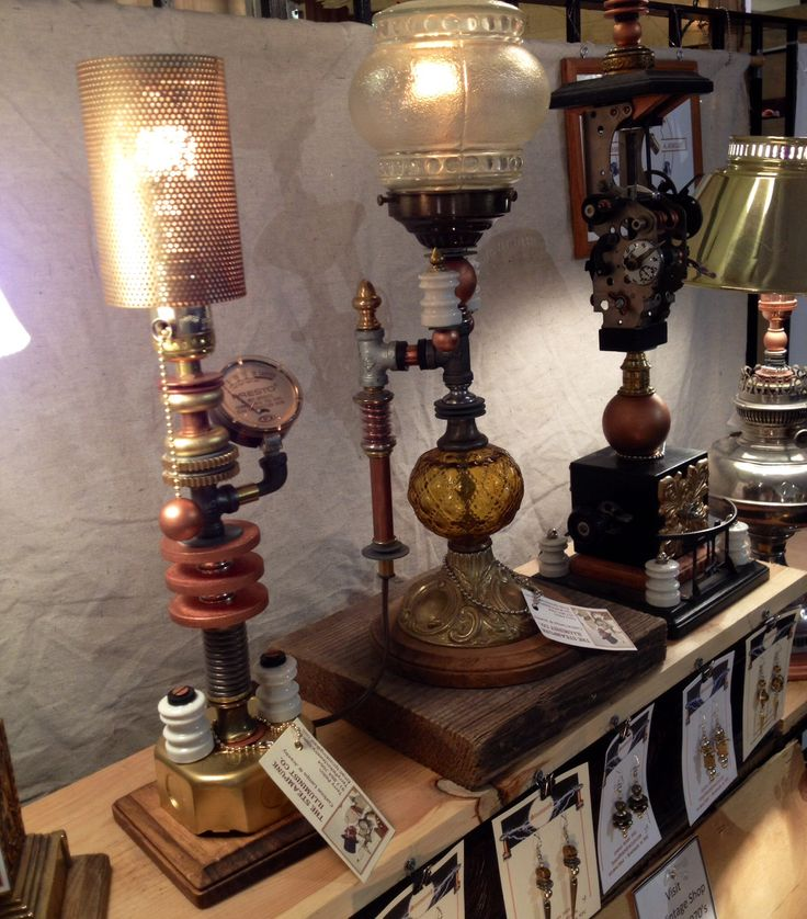 49 Best Images About Steampunk Lamps On Pinterest