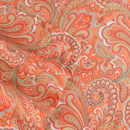 Brinley Home Abby 4pc Microfiber Paisley Sheet Set, Orange