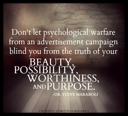 Don't let psychological warfare from an advertisement campaign blind you from.... #quote