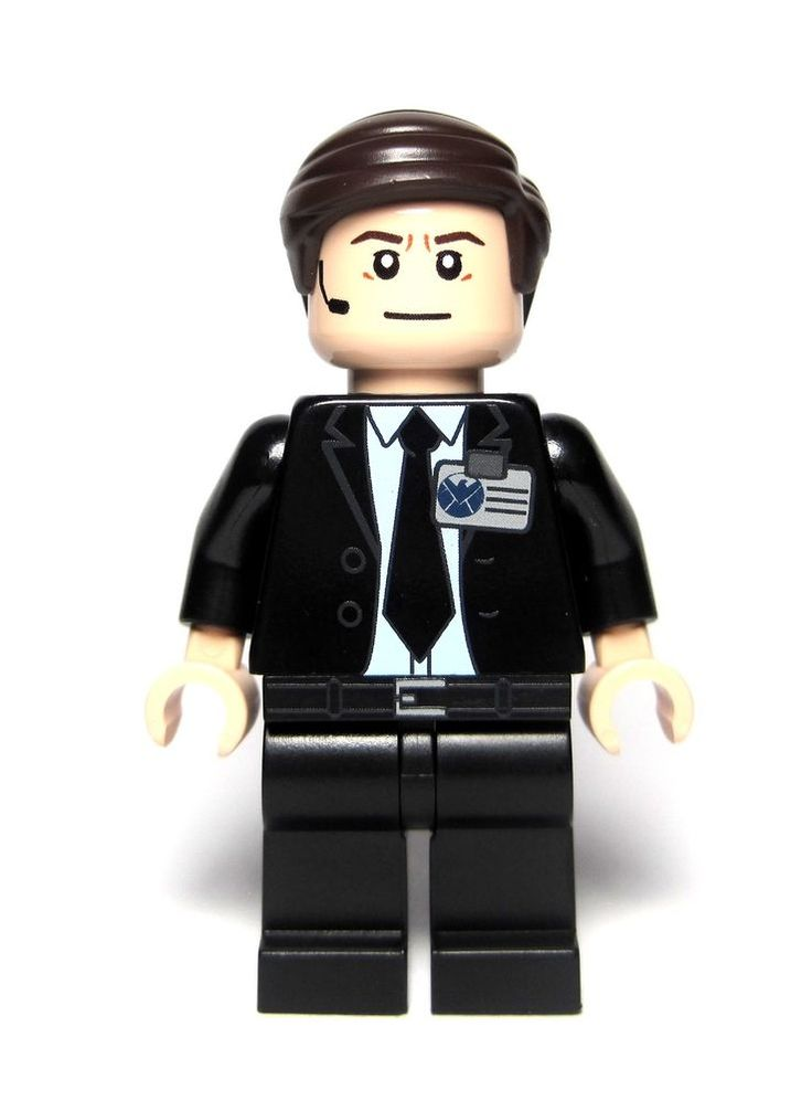 Best minifigure ever!  Lego Marvel Video Game Custom Agent Phil Coulson Inspired Minifigure | eBay