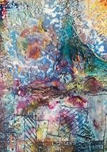 """Breathing Organism by Bethany Handfield Encaustic, Mixed Media  Found Objects ~ 16"""" x 12"""""""