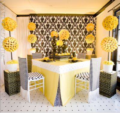 44 Best Yellow And Black Table Settings Images On Pinterest