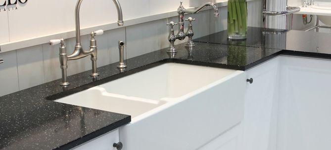 Double fireclay sink - english tapware Co