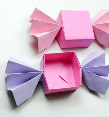 DIY origami candy box -  paper folding tutorial // Szaloncukor alakú papír ajándékdobozok egyszerűen - origami // Mindy - craft tutorial collection // #crafts #DIY #craftTutorial #tutorial