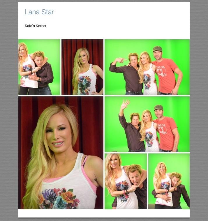 """Lana Star and Kato Kaelin at Digidev's studios - filming """"Kato's Korner"""""""