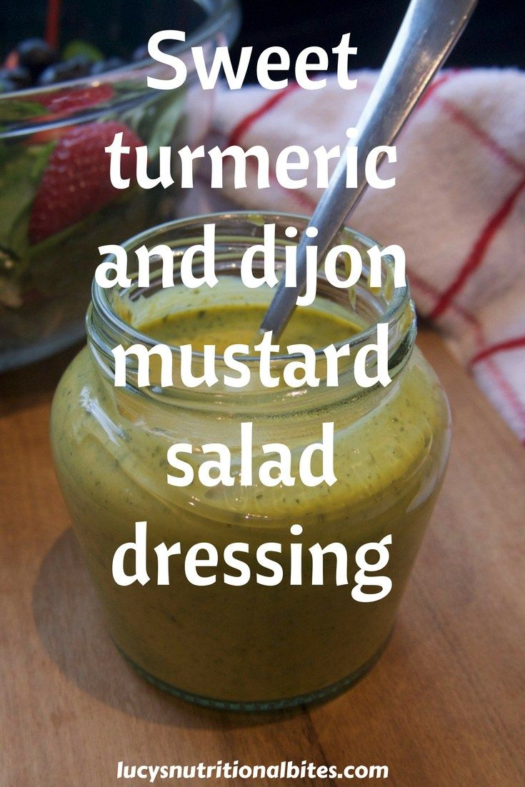 Homemade turmeric and dijon mustard salad dressing recipe. Full of healthy ingredients - a must for summer salads
