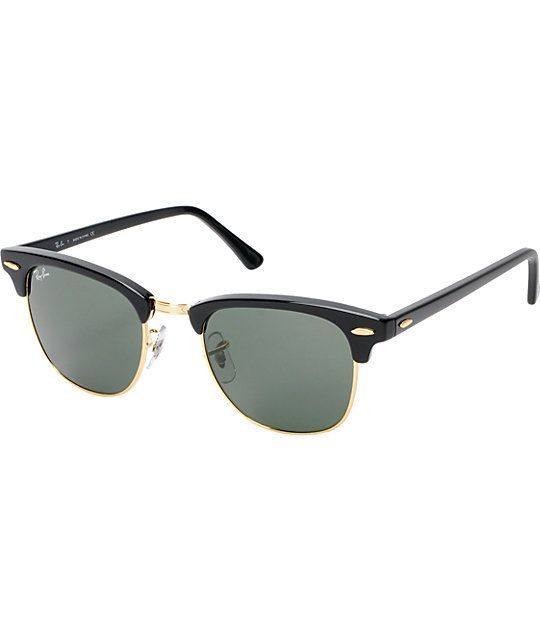 74d04a3e3ff The Ray-Ban Clubmaster sunglasses have the perfect mix of plastic and metal  for a