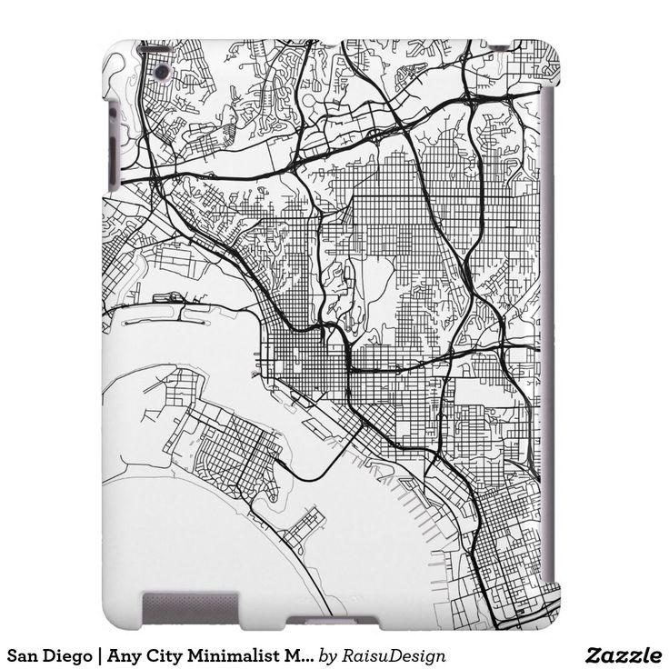 San Diego | Any City Minimalist Map