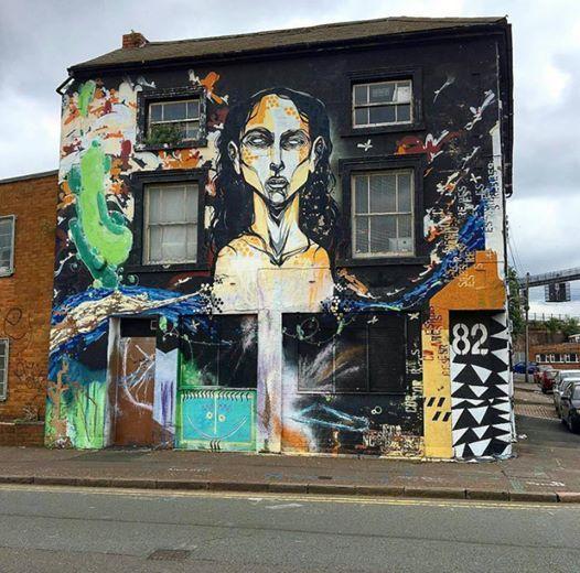 Titi Freak for Birmingham Street Art in Birmingham, UK, 2016