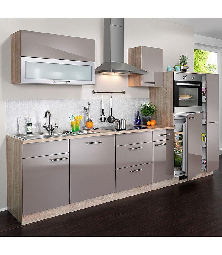 Küchenzeile »Montana Glanz«, inkl Elektrogeräte, Breite 300 cm ab - küchenzeilen ohne geräte