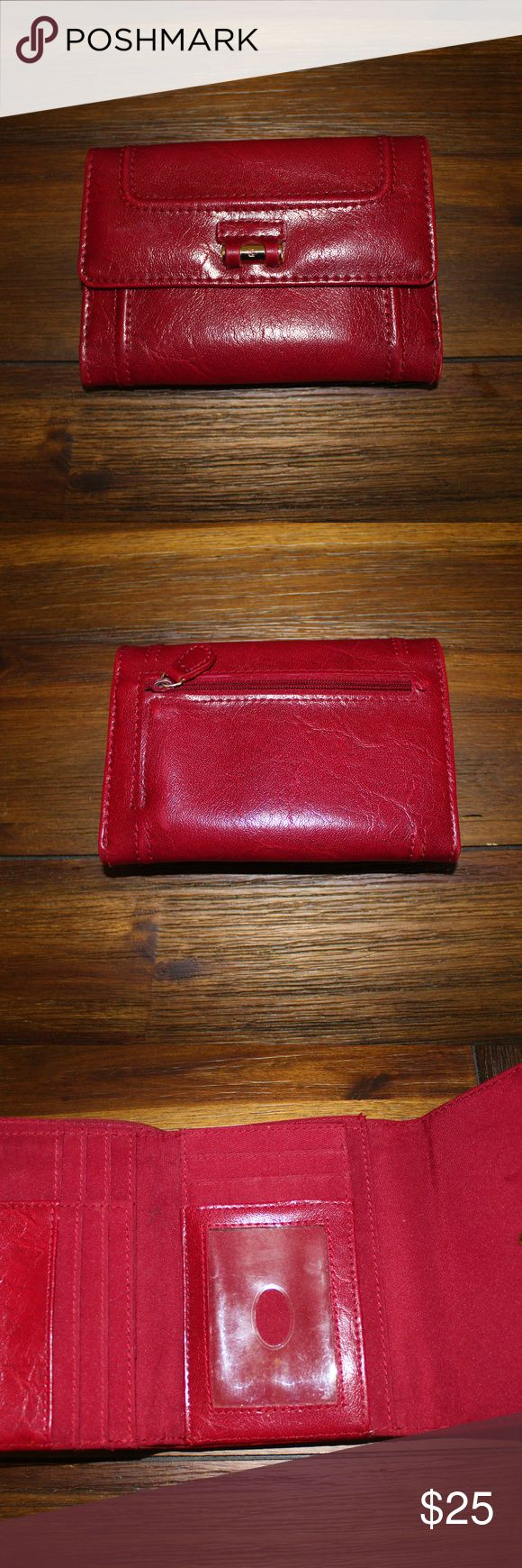 Liz Claiborne Wallet Liz Claiborne women's red wallet, used, like new Liz Claiborne Bags Wallets