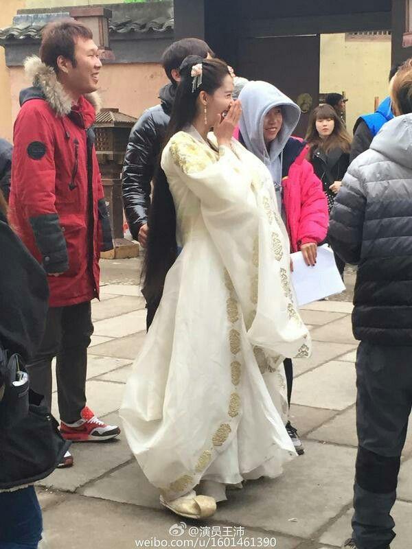 Yoona at location of drama God of War Zhao yun