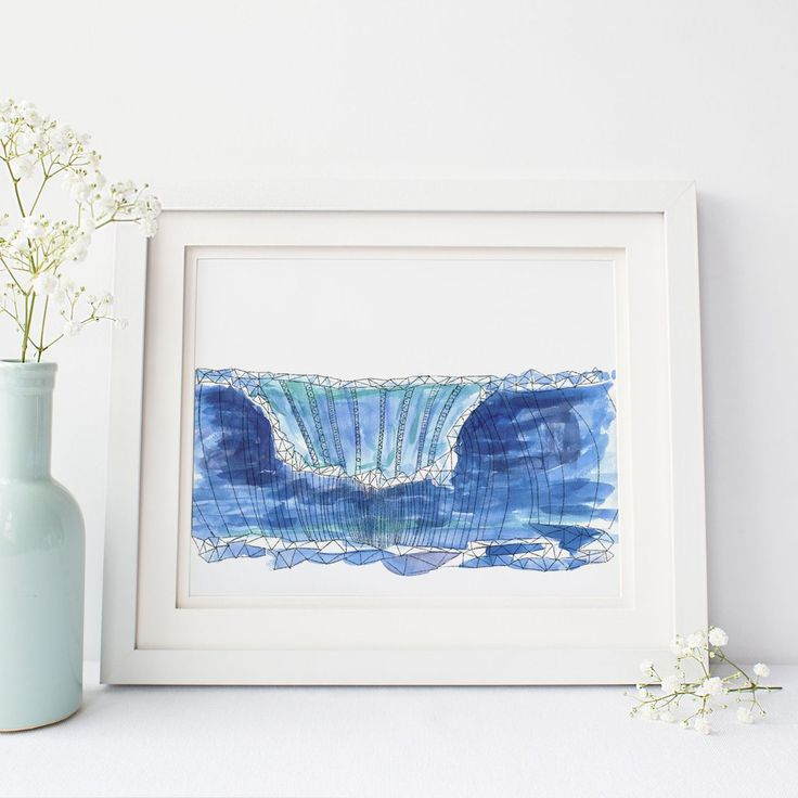 surfu0027s up with this gorgeous hand painted and drawn watercolor wave art print itu0027s the perfect accent for any beach house or coastal nursery decor