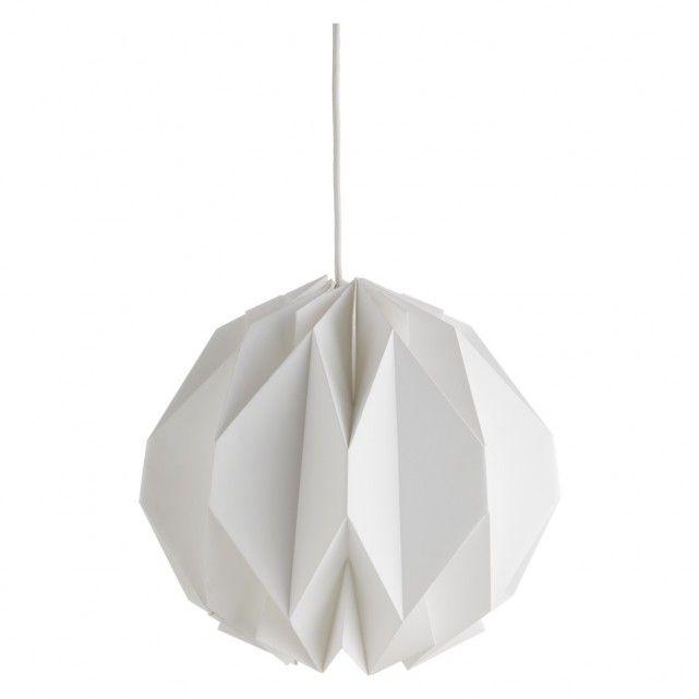 KURA Small white paper lamp shade