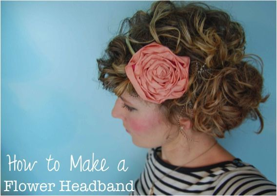 DIY Flower HeadbandFlower Tutorials, Fabric Flower Headbands, Fabric Flowers, Make Flower, Fabrics Flower Headbands, Diy Headbands, Headbands Collection, Diy Flower, Flower Hair