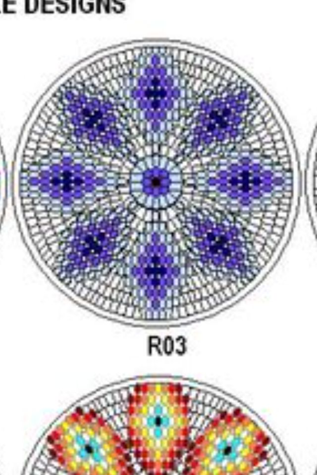 Southern Beading medallion template