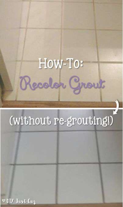 Want a new look for your grout? Take a look at this simple how-to for changing the color of your grout today! @diyjustcuz
