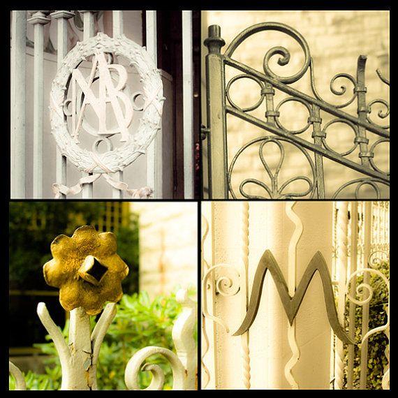 Wall art quotinitials letter m gates tops fencesquot wrought for Letter m home decor