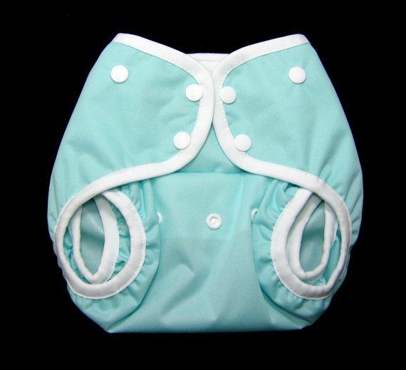 One Size PUL Front Snapping Gusseted Diaper by SwaddleinCloth