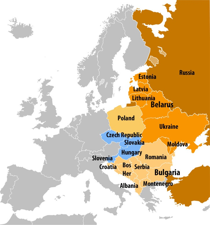 206 Best Images About Maps Europe Eastern Europe On Pinterest Map Of Denmark Balearic Islands