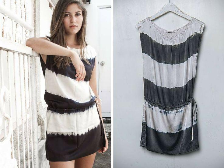 Sutra Dress / Batik Zebra | #buddhawear $199.90 AUD  #summer #ethical #fashion #womenswear #silk #ss16