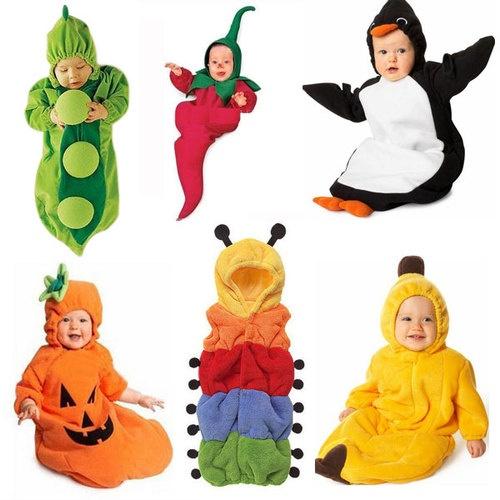 Infant Baby Pea Banana Chilli Pumpkin Penguin Caterpillar Cartoon Sleeping Bags | eBay