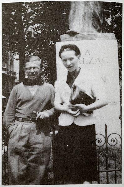 Simone de Beauvoir avec J-P Sartre