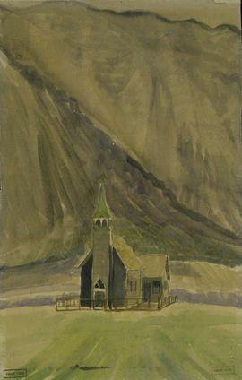 Catholic Church. 1933. Emily Carr. Pemberton trip. BC Archives pdp00610_142.
