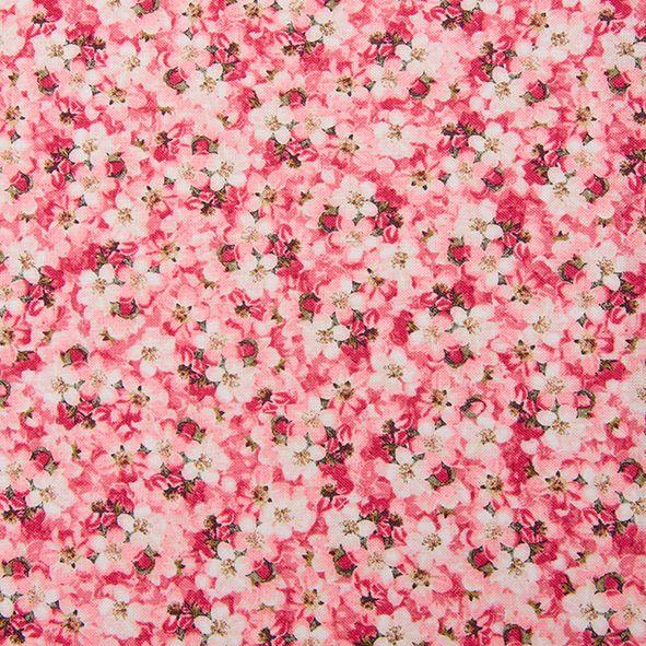 Bavlněná látka Kytičky růžové Romance, Stof