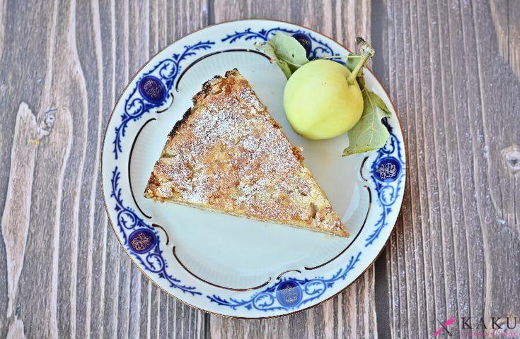 Szarlotka sypana jabłka papierówki KAKU fashion cook / apple pie