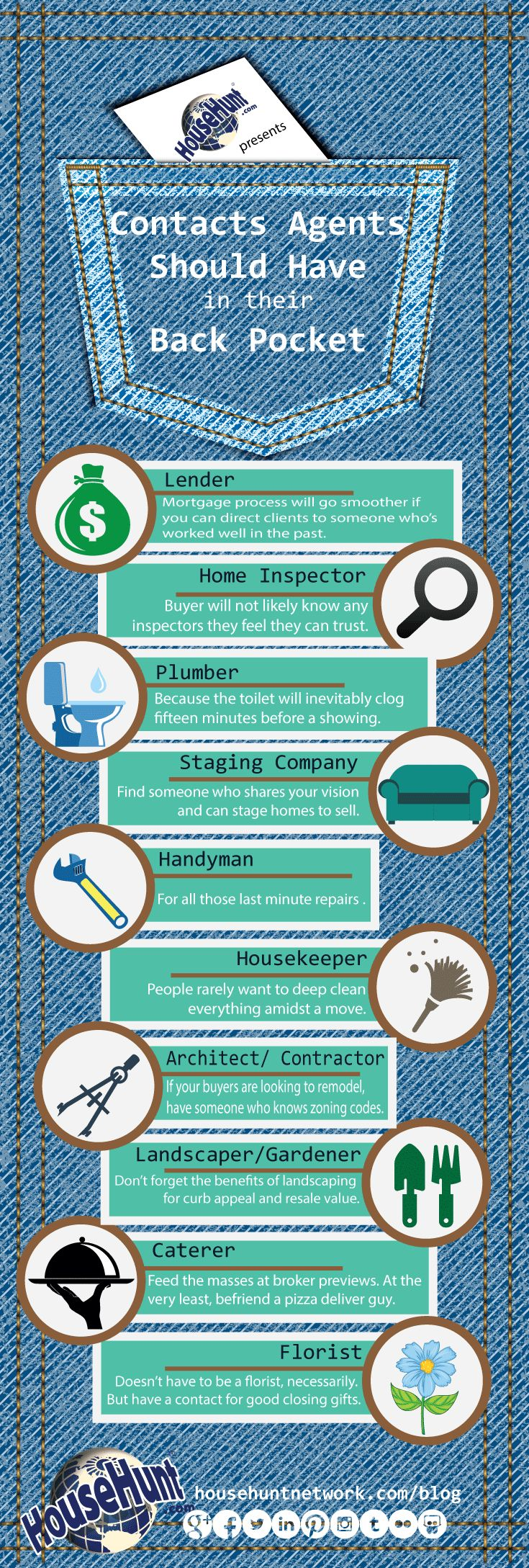 People to Have in Back Pocket 10 Contacts Agents Should Have in Their Back Pocket [Infographic]