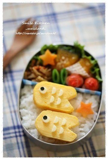 「卵焼き鯉のぼり」:キャラ弁連載:初めてでも楽しく作れる♪3Dキャラ弁当:レシピブログ