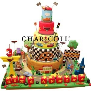 Char & Coll Gifts - Lightning Mcqueen Cake 5 Tiers