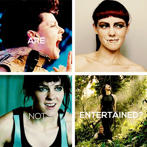 Johanna Mason: Are you not entertained? Is this not why you are here? #thg