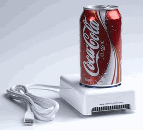 Cool down with this USB Beverage Chiller.  It's guaranteed to keep your favorite drink at a nice, frosty 45° F.