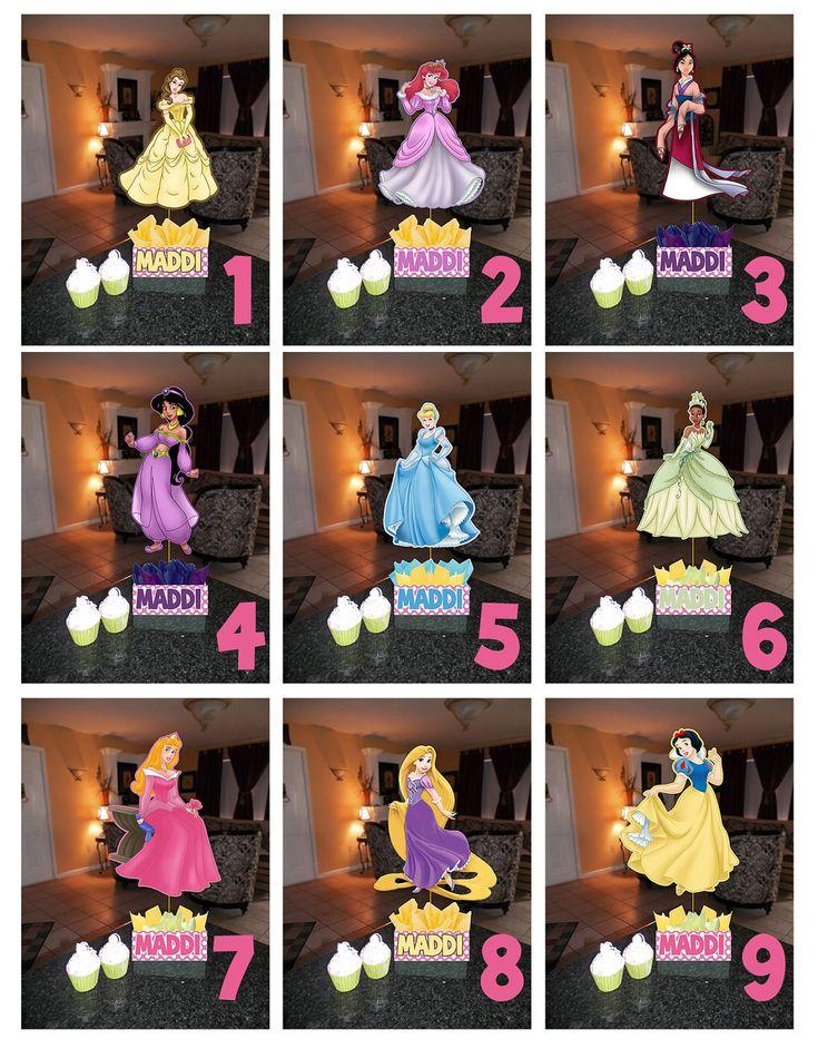 "DIY 12"" Small Princess Birthday Party Centerpieces centerpiece snow white cinderella Little Mermaid belle aurora Jasmine Party Package. $10.00, via Etsy."