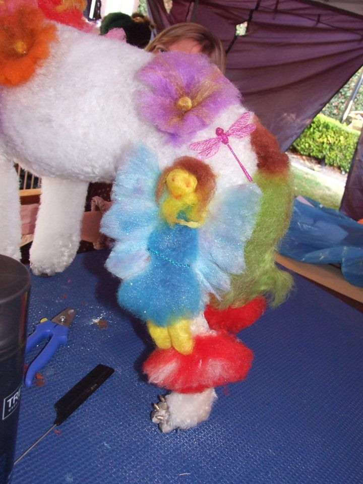 Fairies in the garden Creative dog grooming