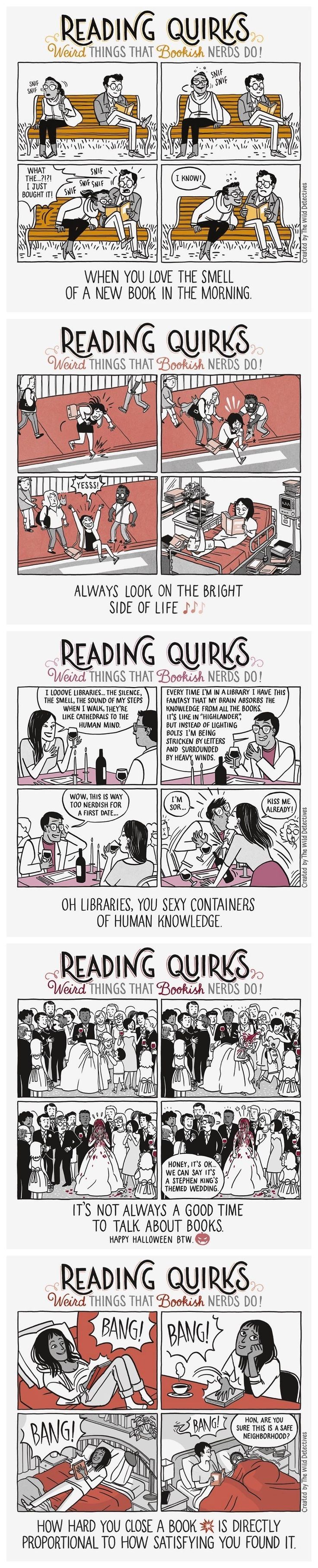 Reading Quirks is an awesome webcomic about