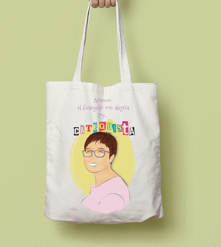 Tote Bag catequistas con mucho encanto #catequista #religión #evangelio